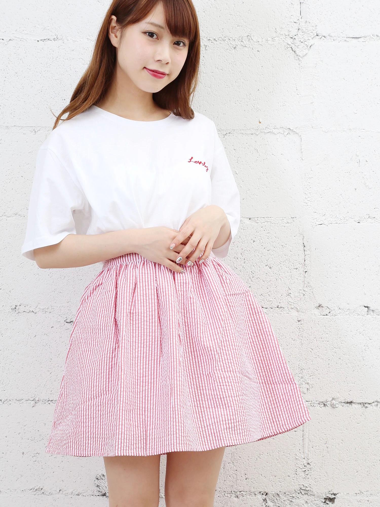 WEGO/シアサッカーストライプスカート