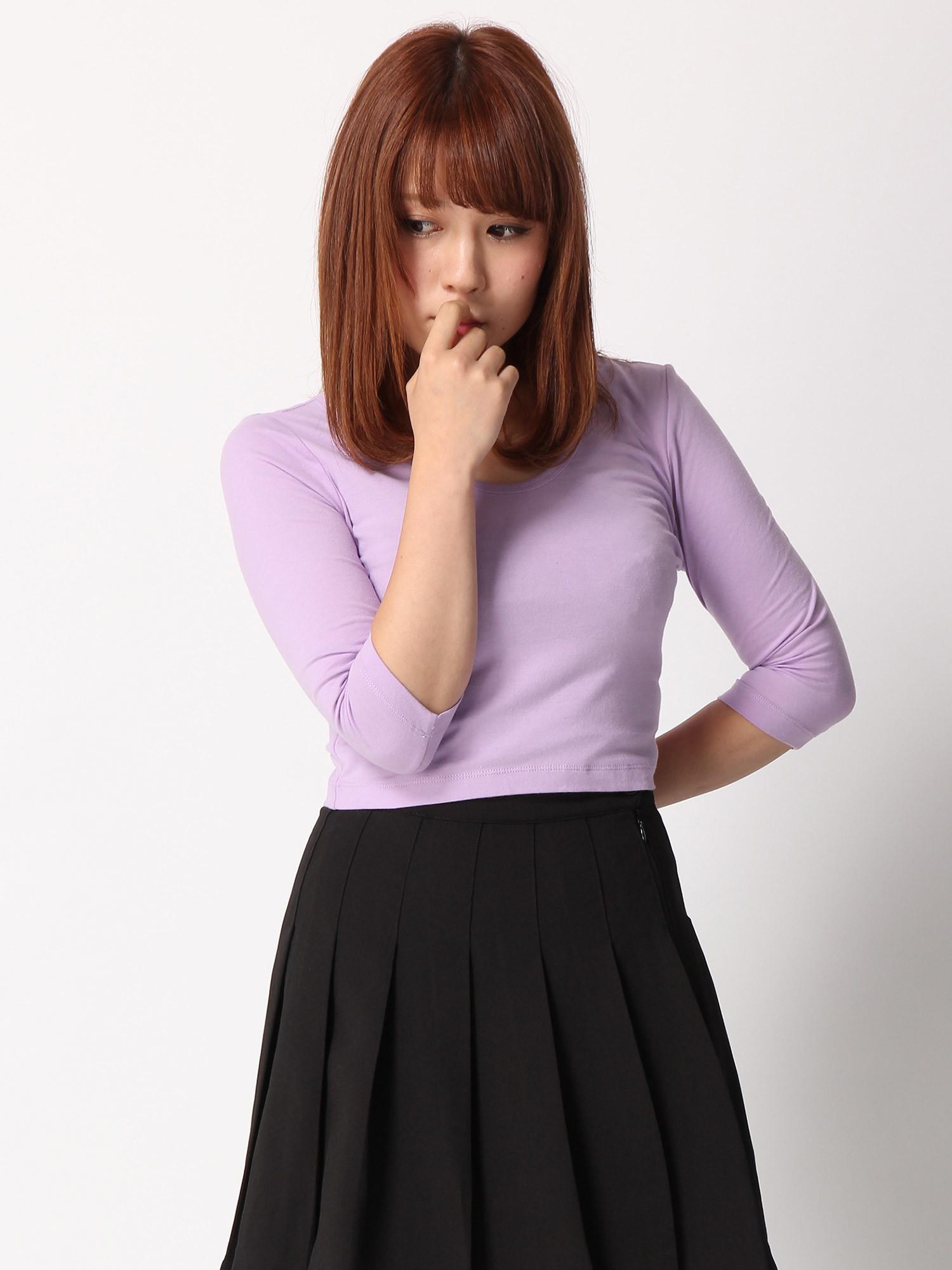 WEGO/タイト7分袖Tシャツ