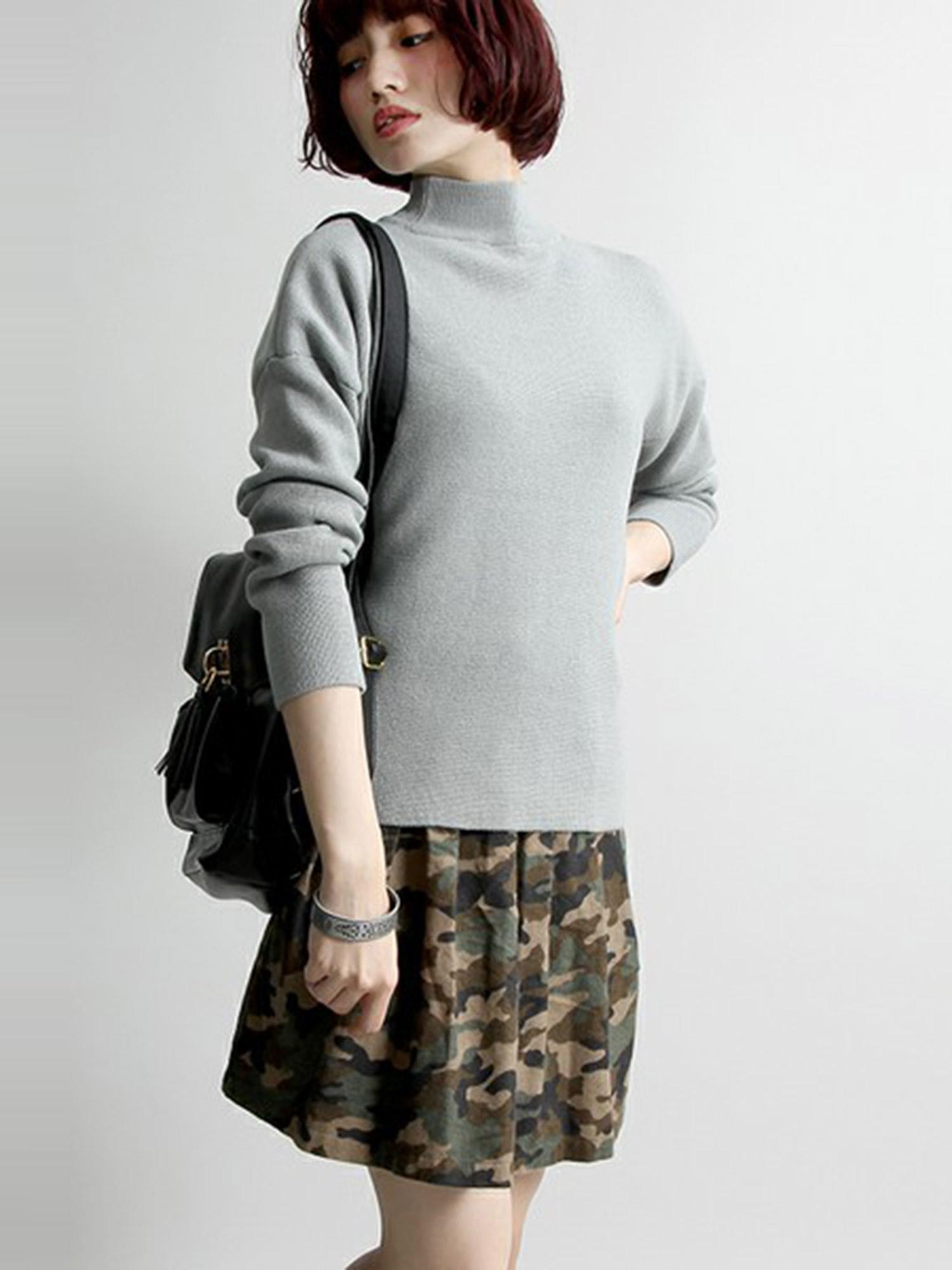 WEGO/迷彩ネルサーキュラースカート