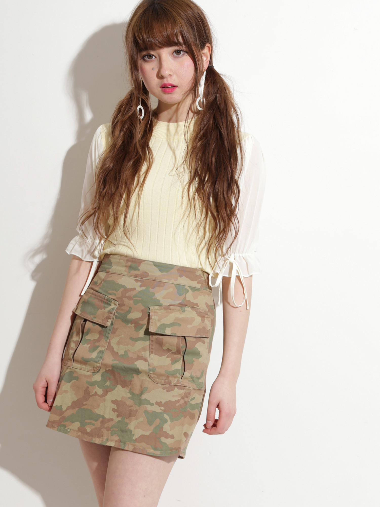 WEGO/BIGポケット台形スカート
