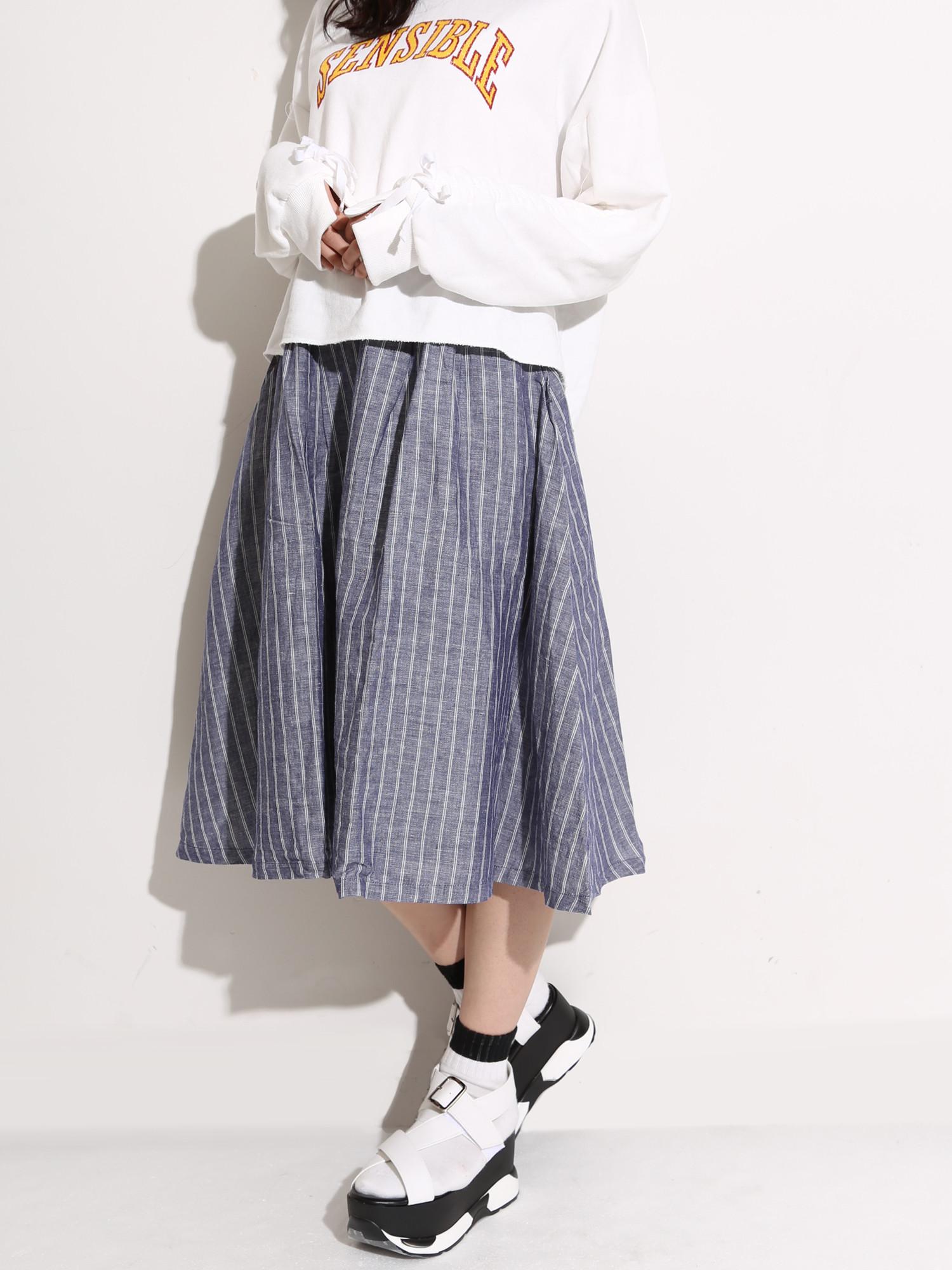 WEGO/リネンユニオンスカート