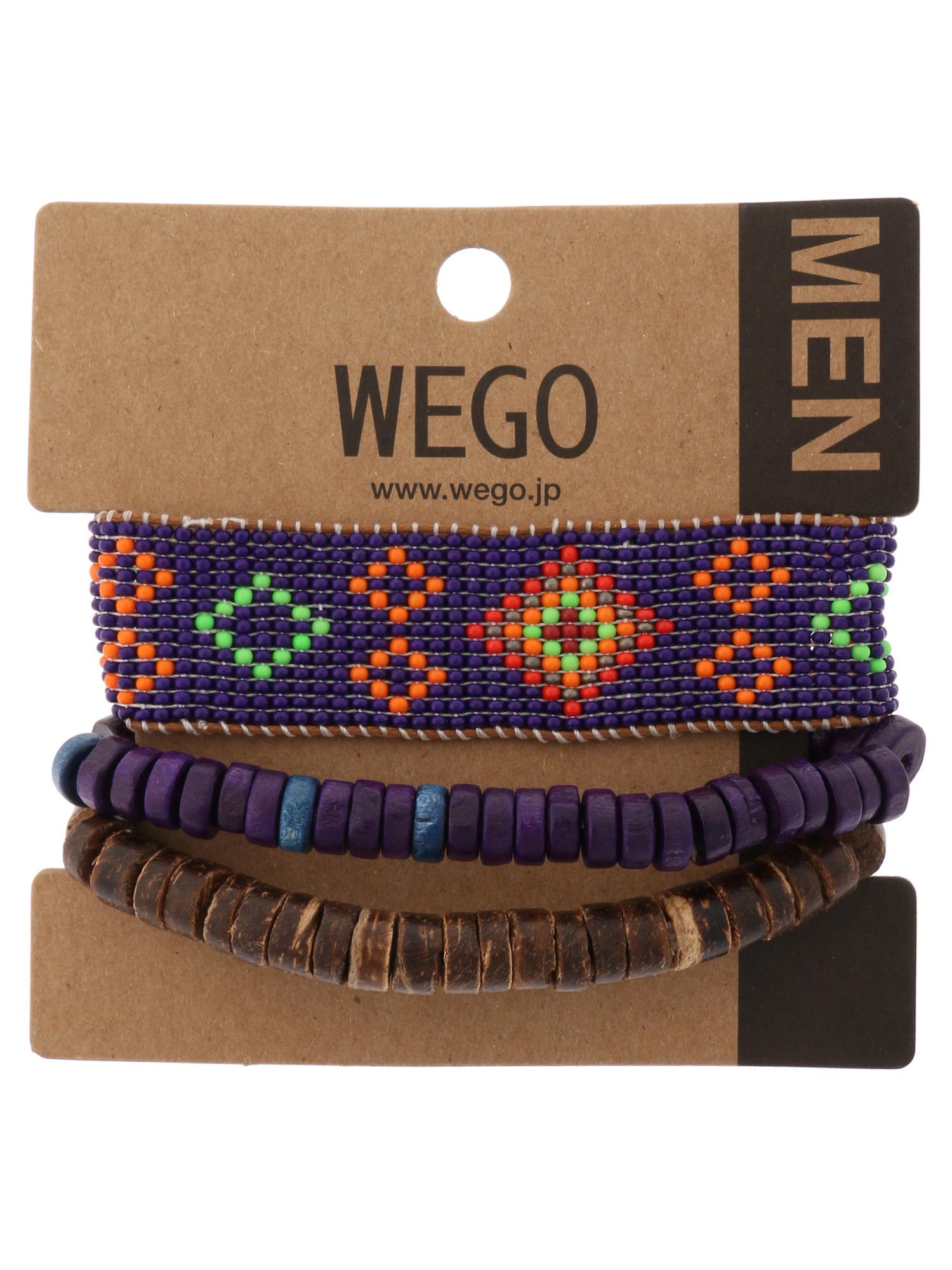 WEGO/ビーズウッドセットブレスレット