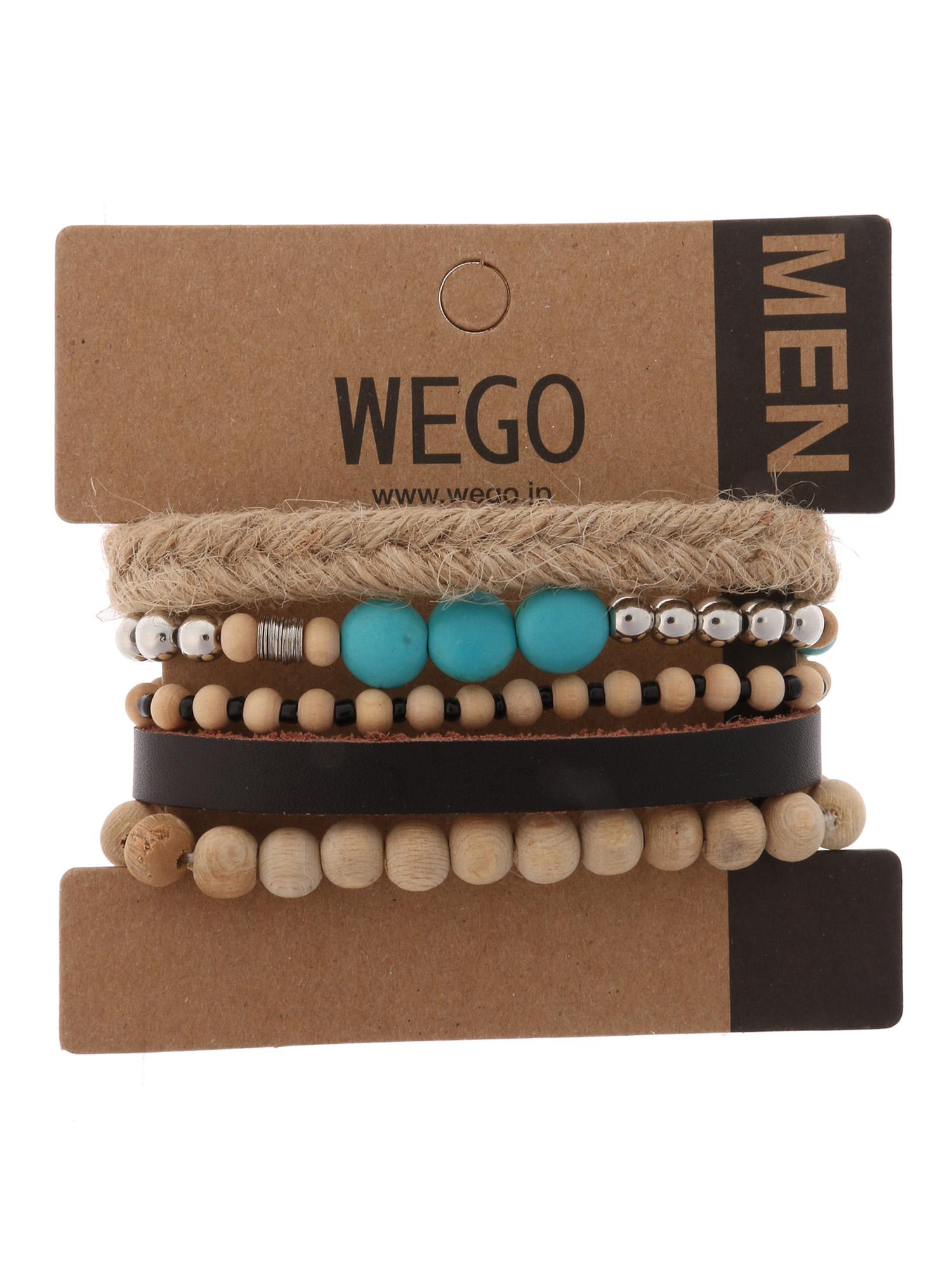 WEGO/ジュートミックスセットブレスレット