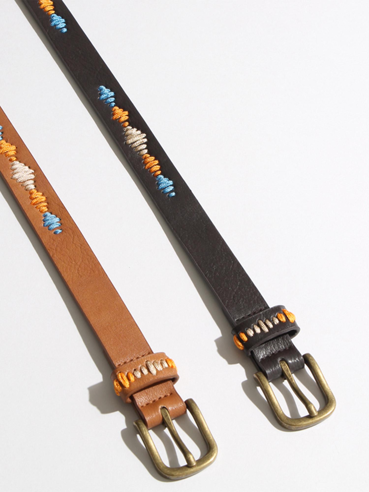 WEGO/カラー刺繍ベルト