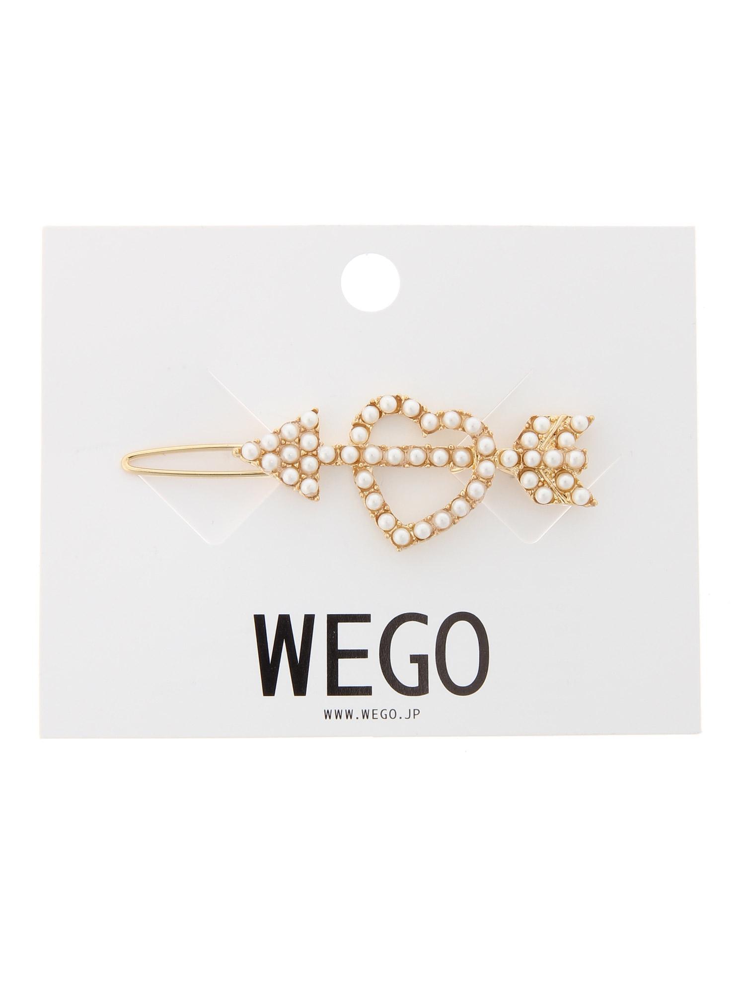 WEGO/パールハートアローヘアピン