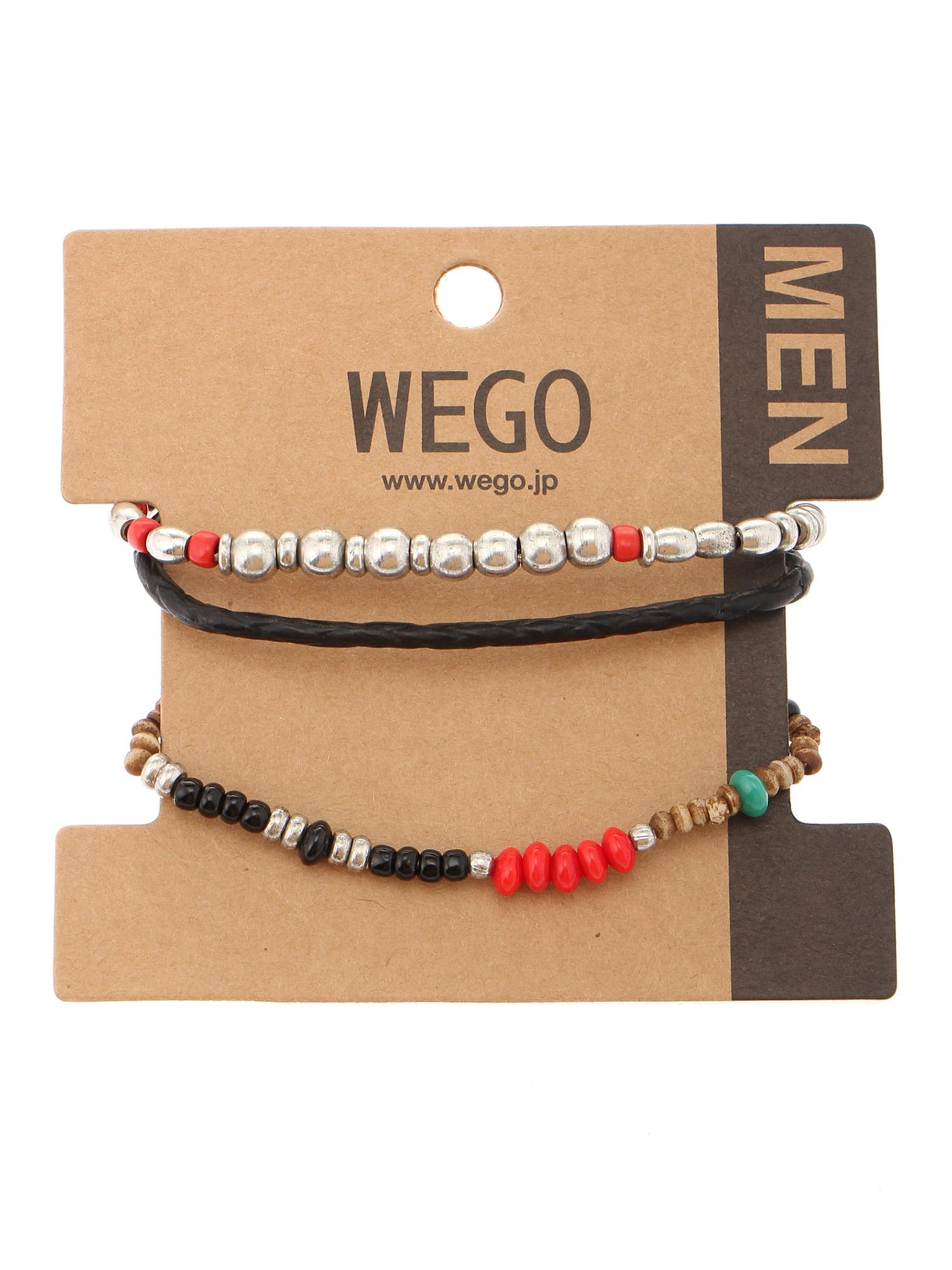 WEGO/メタルビーズセットブレスレット