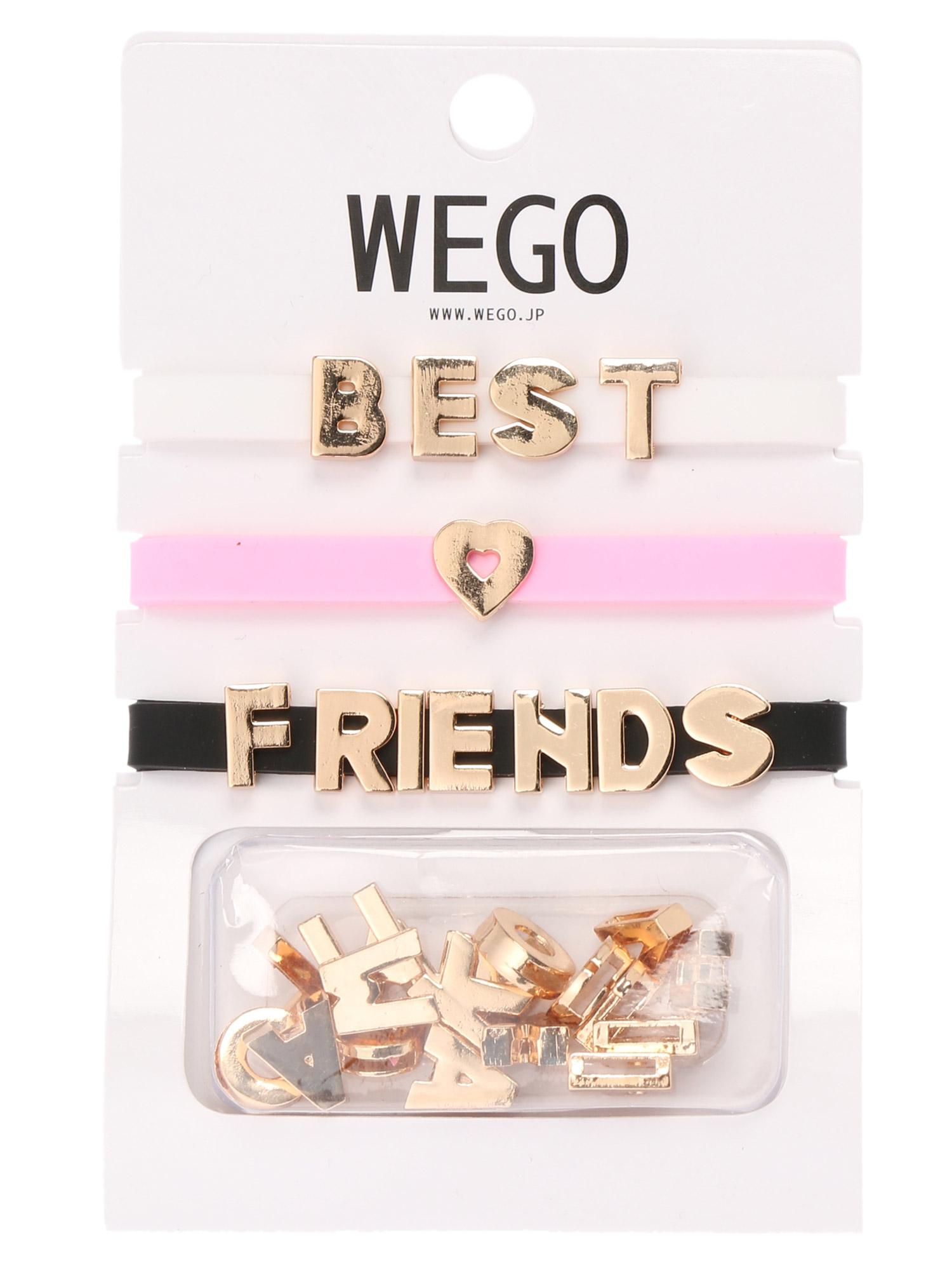 WEGO/メタルメッセージブレスレット