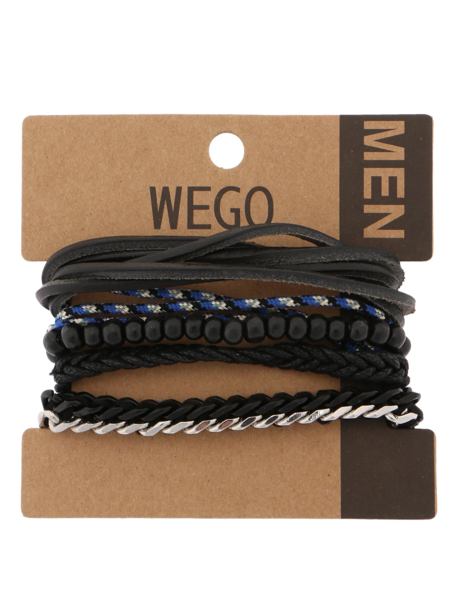 WEGO/ブラックミックスセットブレスレット