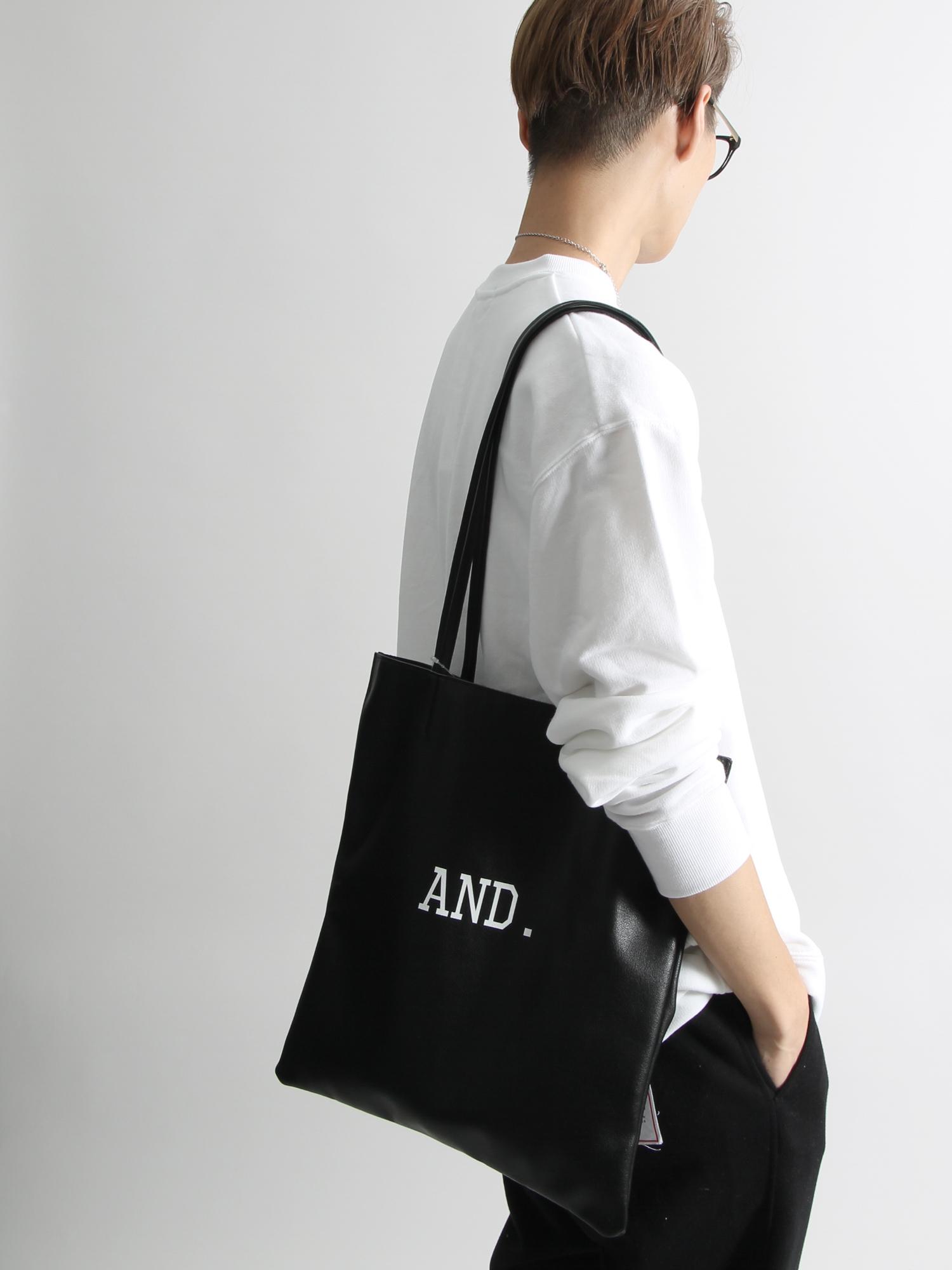 WEGO/ANDフェイクレザートートバッグ