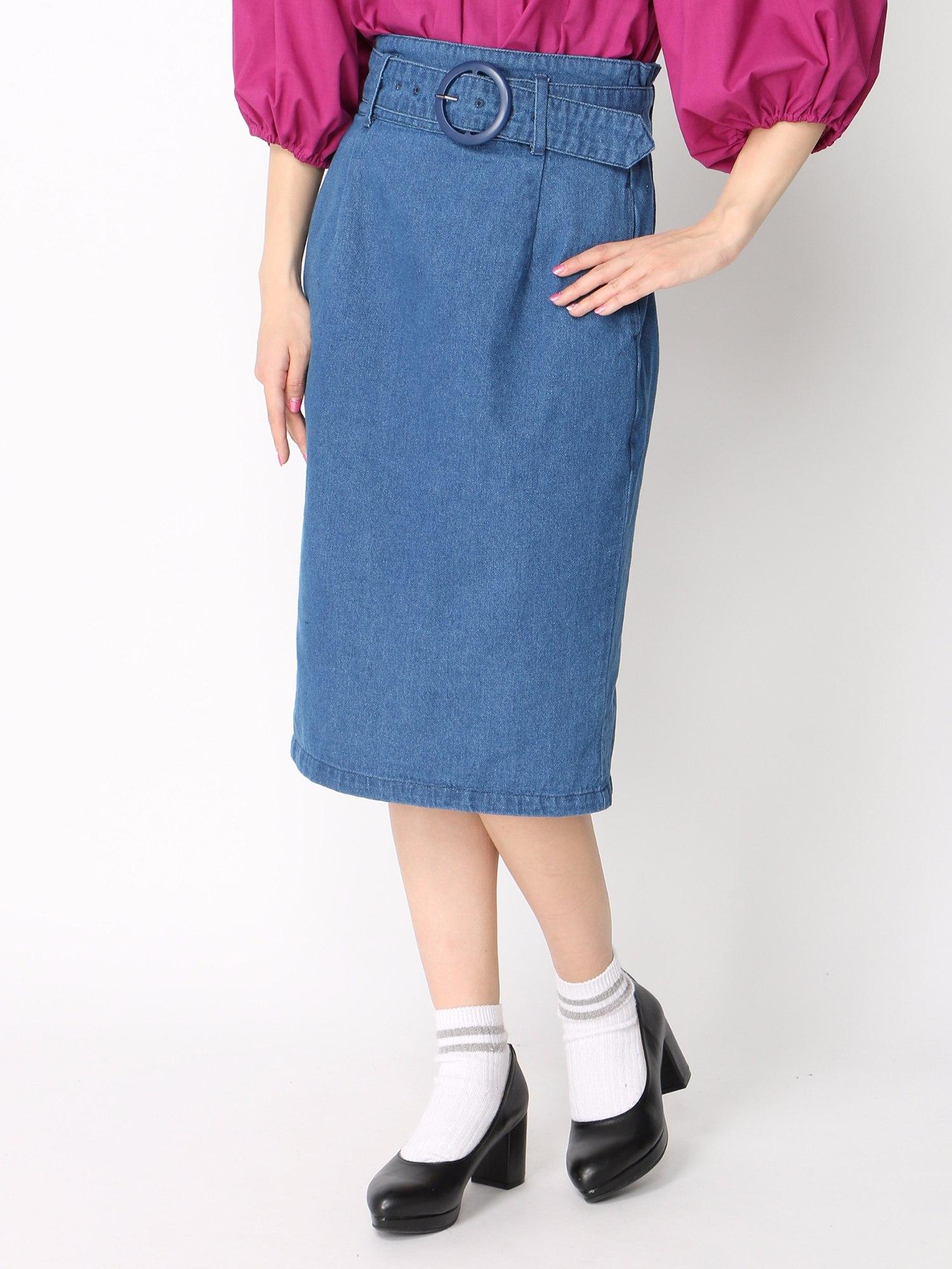 WEGO/ウエストベルトタイトスカート