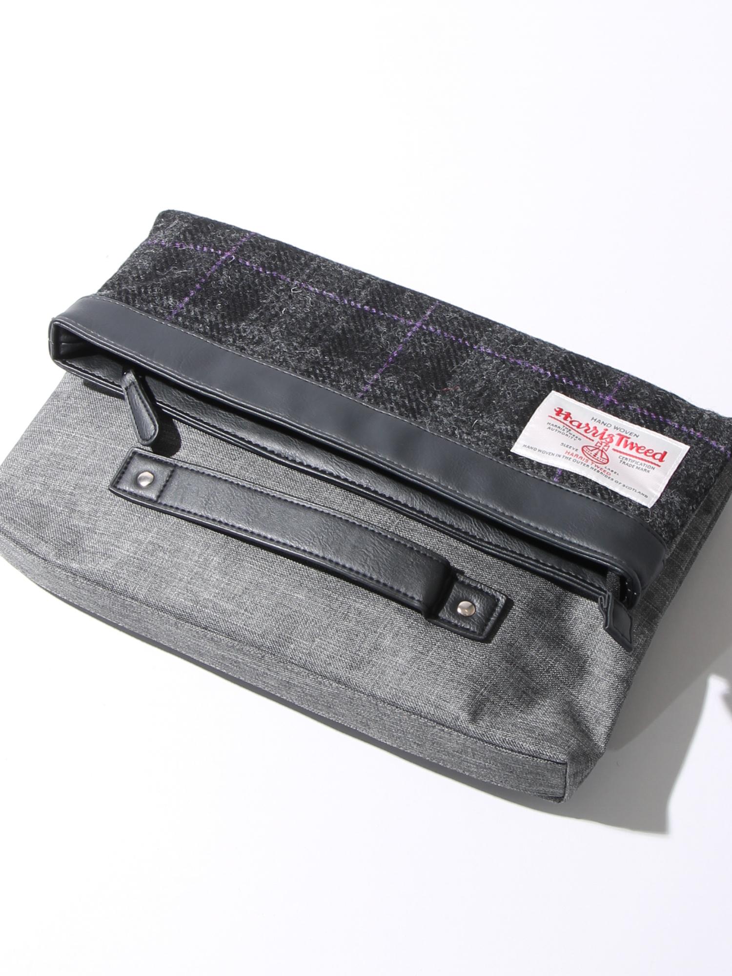 WEGO|HARRISTWEEDクラッチバッグ