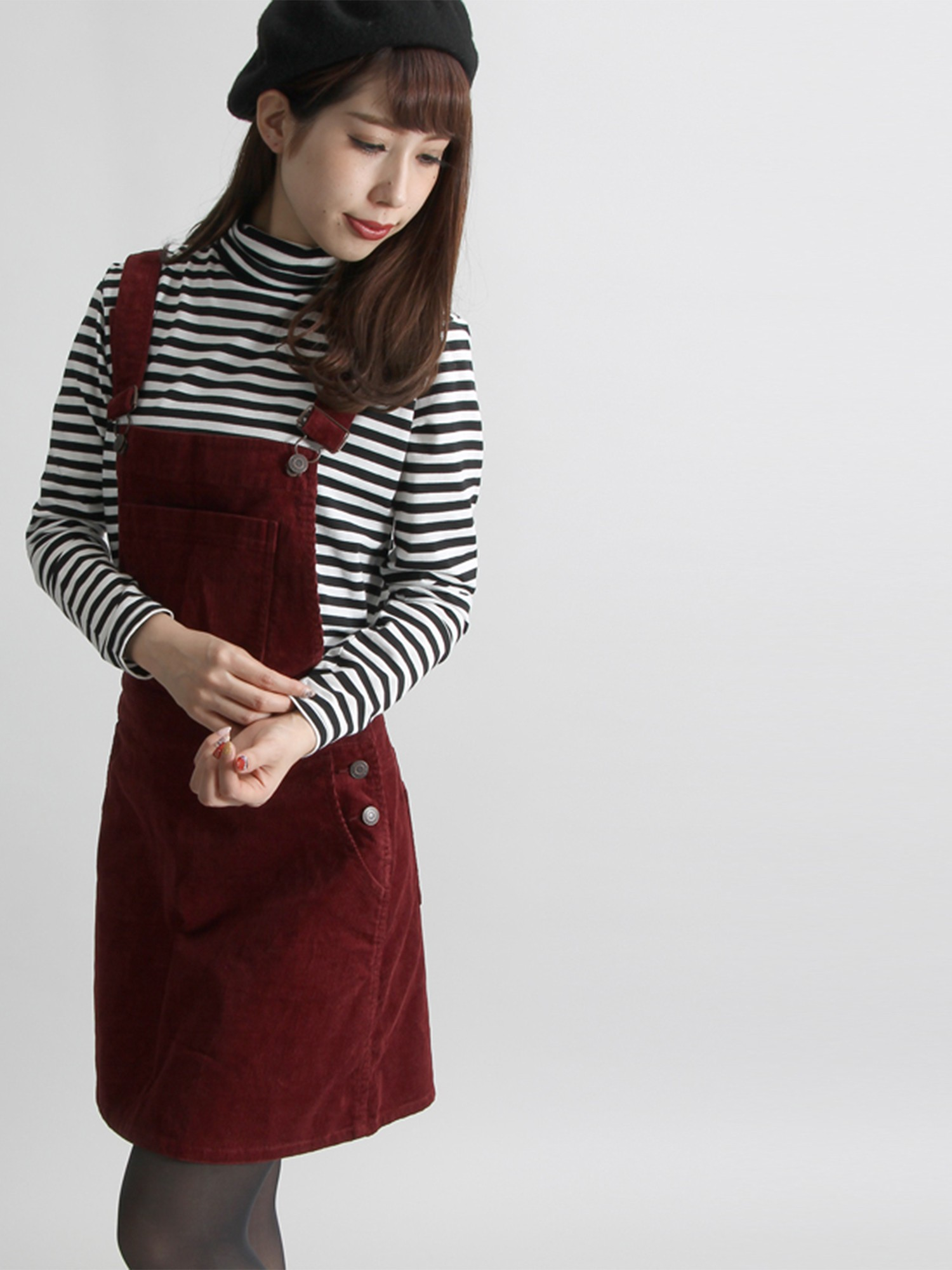 WEGO/コーデュロイベーシックジャンパースカート