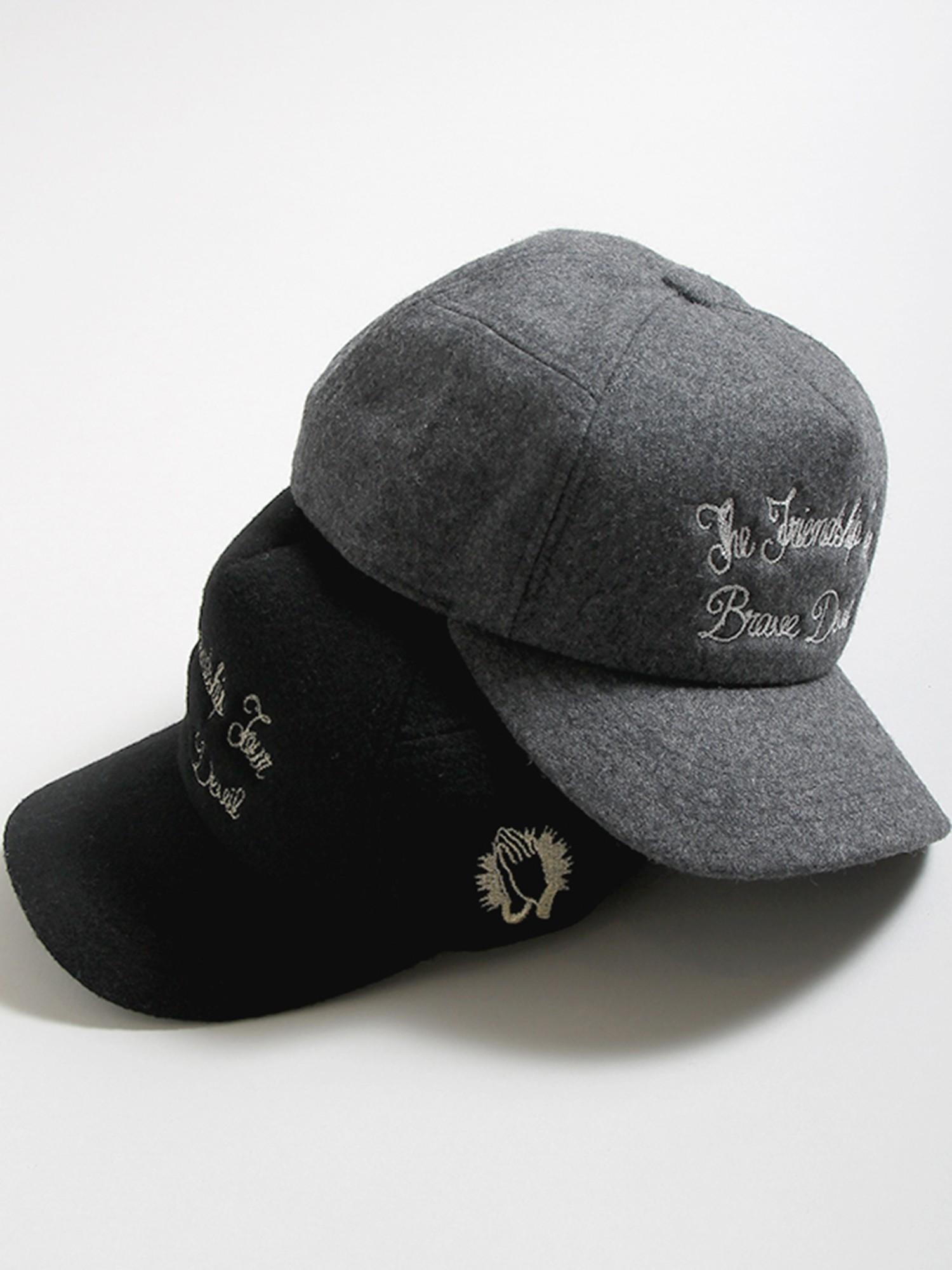 WEGO/チェーン刺繍カーブキャップ