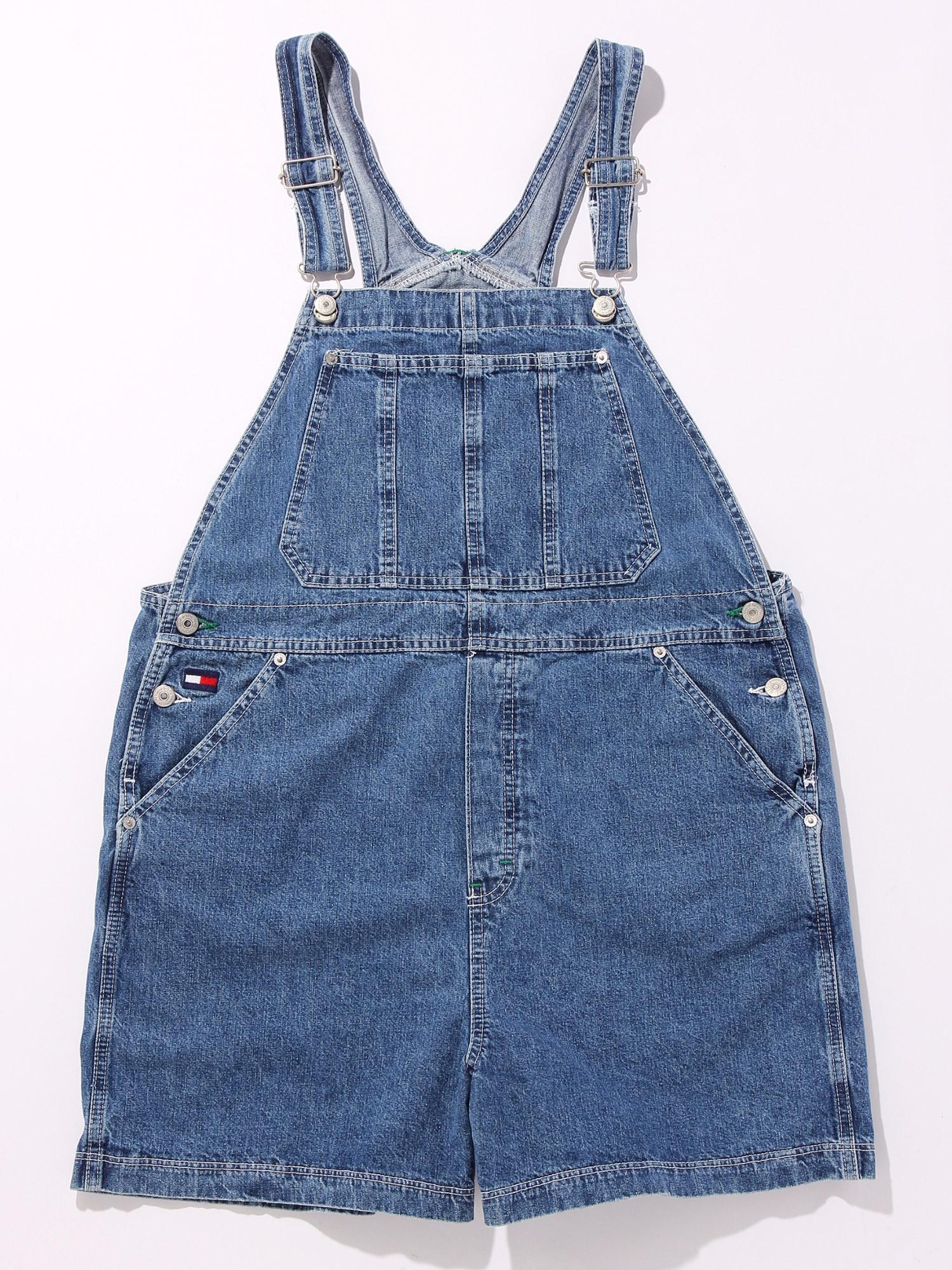 【USED】90'-00'sオーバーオールショーツTOMMYCANADAサイズ表記XL