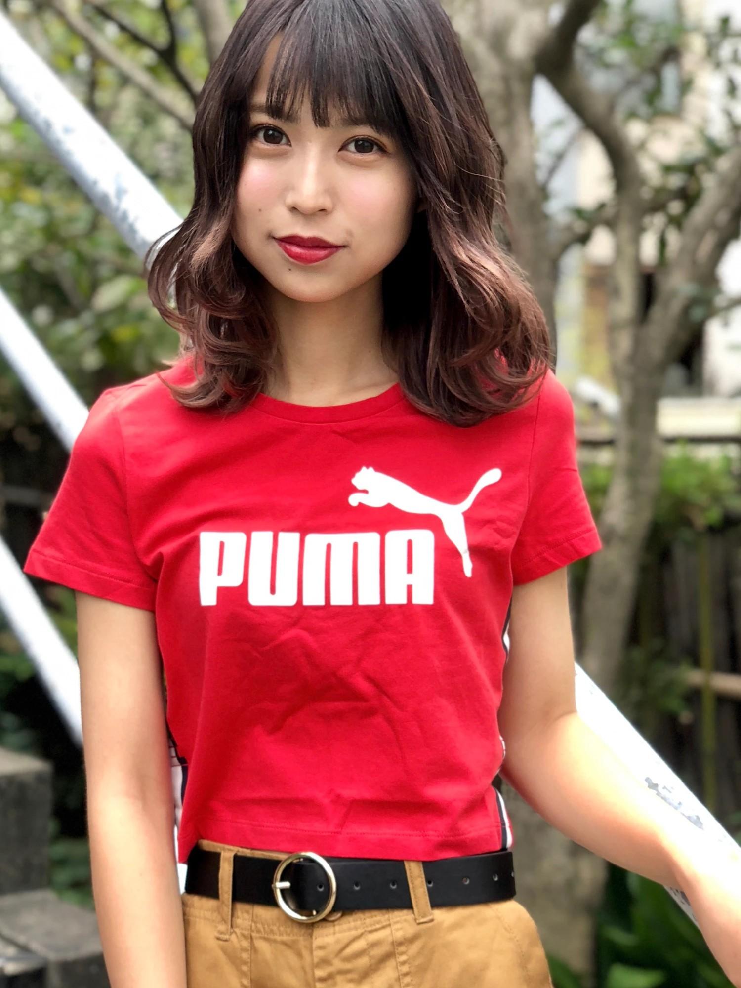 PUMA|クロップドTシャツ【WEGO限定商品】