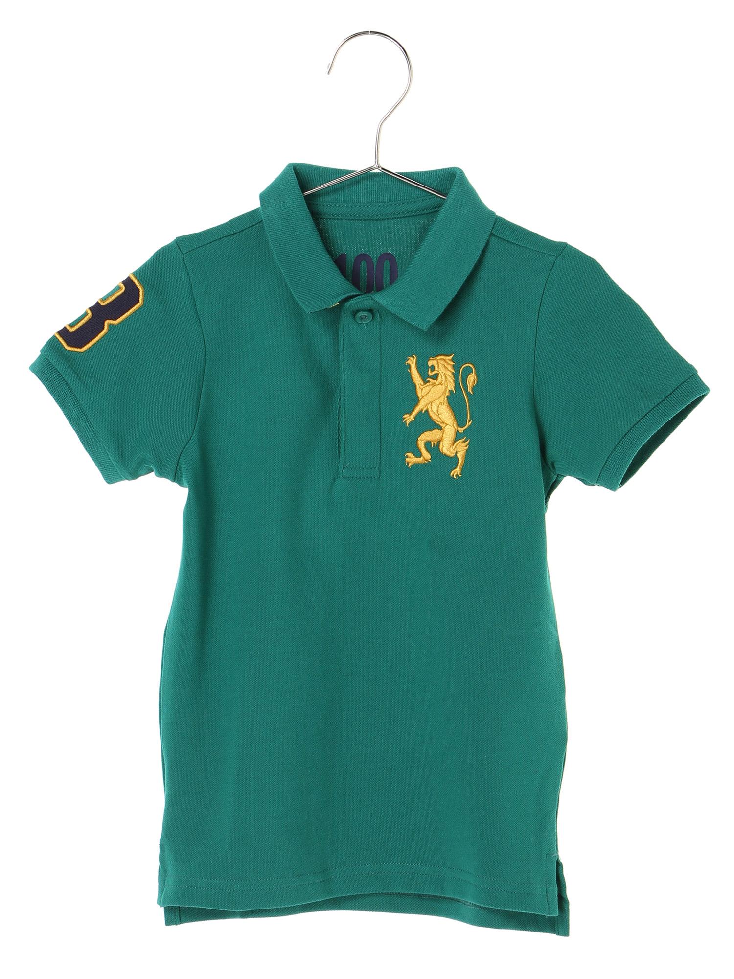 [GIORDANO]ライオン刺繍ポロシャツ