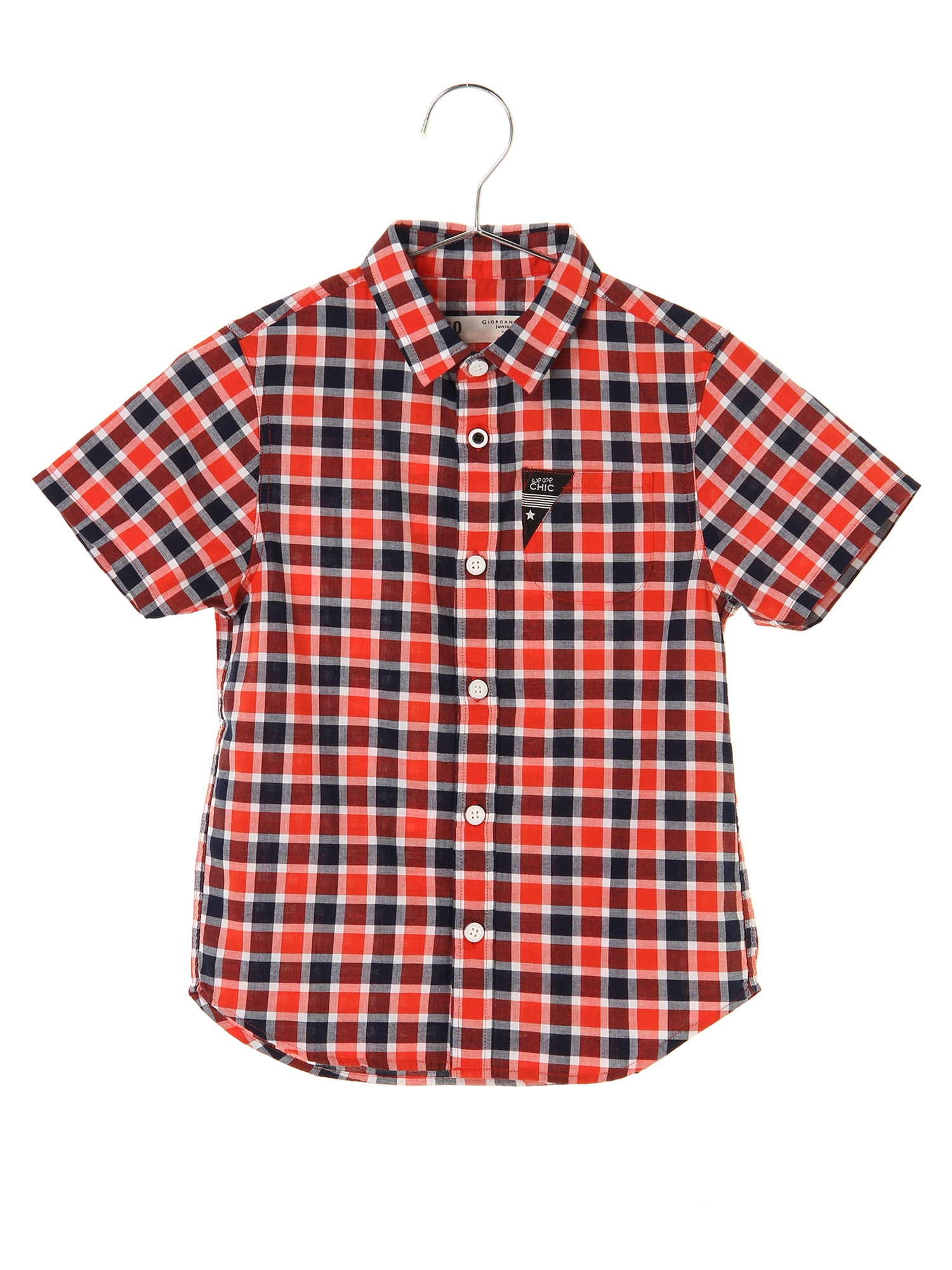 [GIORDANO]半袖チェックシャツ