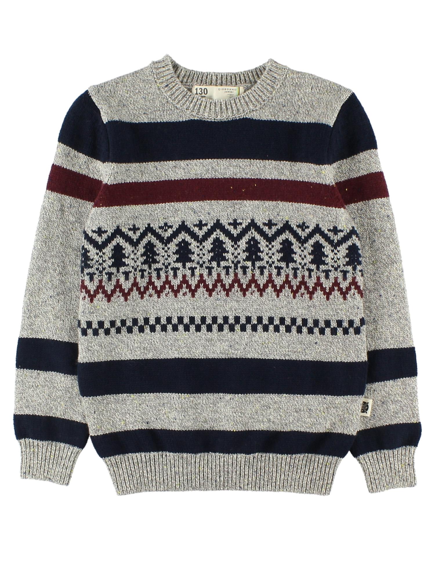 [GIORDANO]ローゲージジャガードセーター
