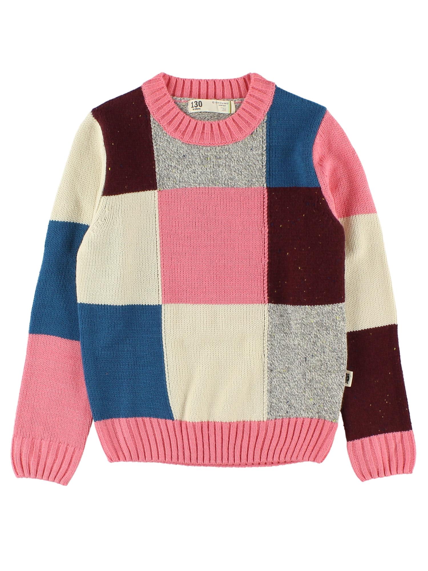 [GIORDANO]ローゲージチェック柄セーター