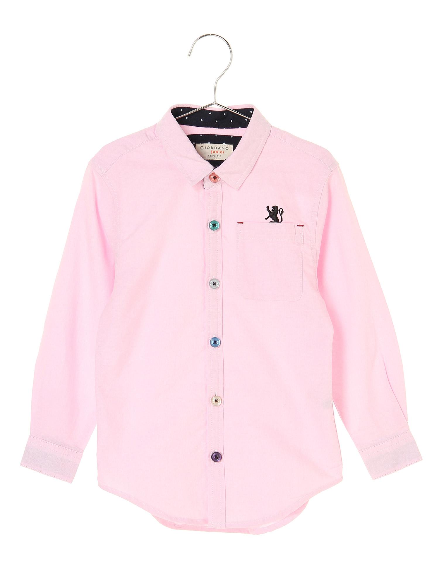 [12/28まで限定価格]ライオン刺繍オックスフォード長袖シャツ