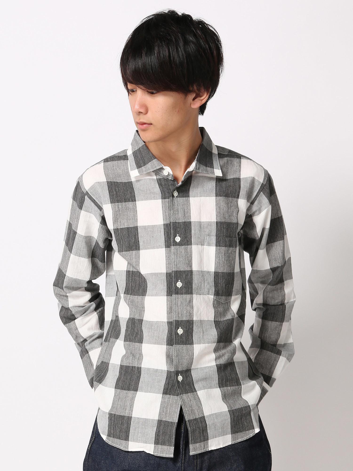 【JapanMade】BLOCK CHECK SHIRTS/ブロックチェックシャツ