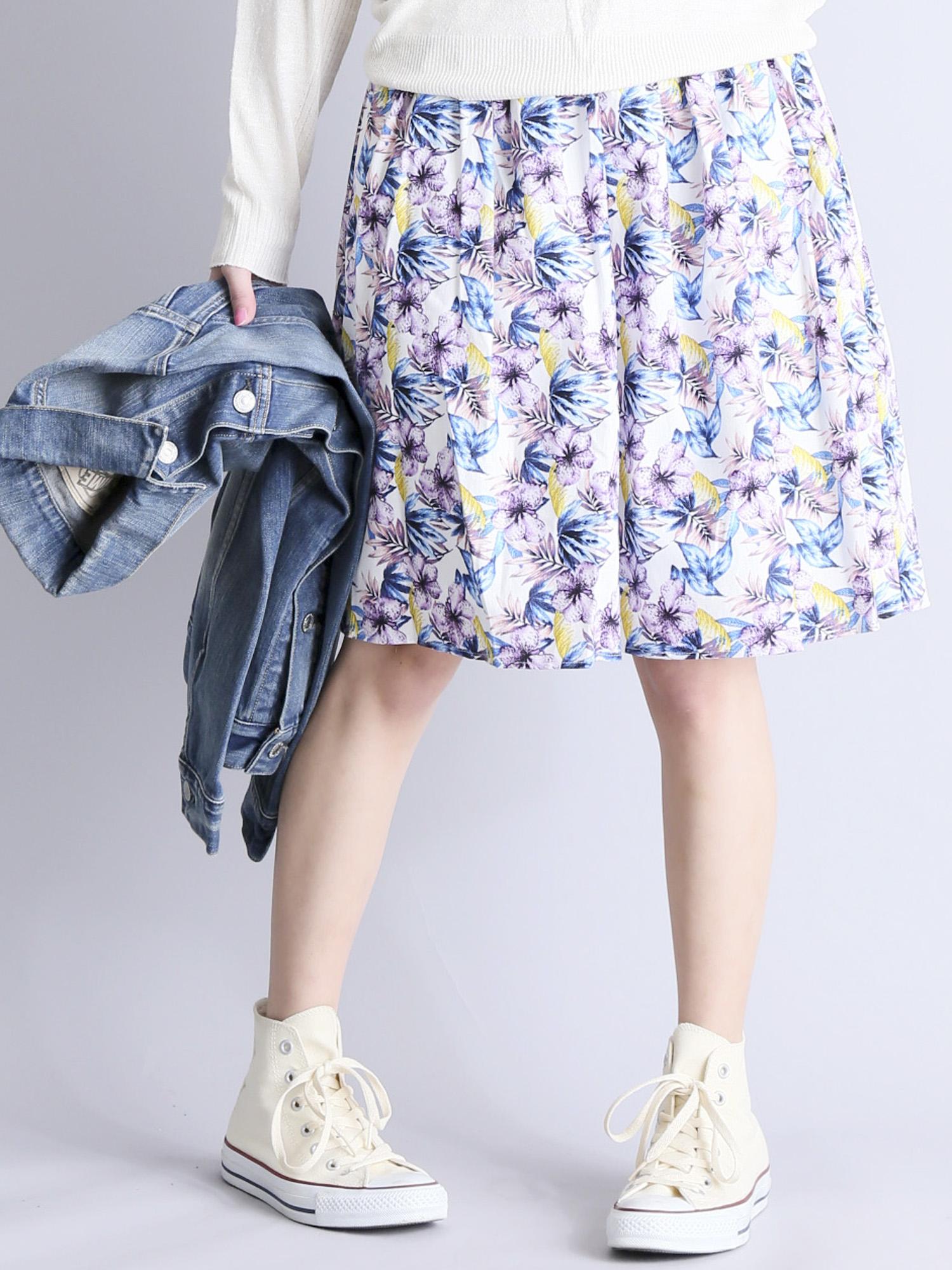 FLOWER PATTERN SKIRT/フラワーパターンスカート