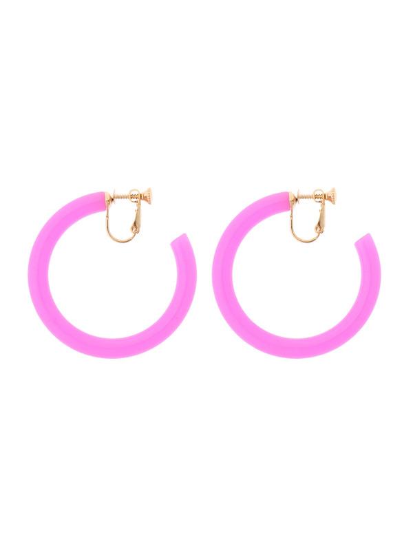 WEGO/フープイヤリング(ピンク)