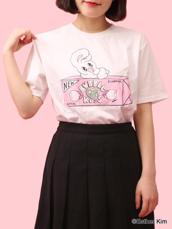 WC|【Esther Kimコラボ】ガムTシャツ(ホワイト)