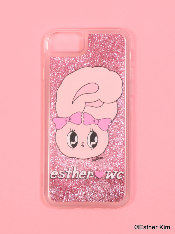 WC|【Esther Kimコラボ】キラキラiPhone6/6s/7/8ケース(柄1)
